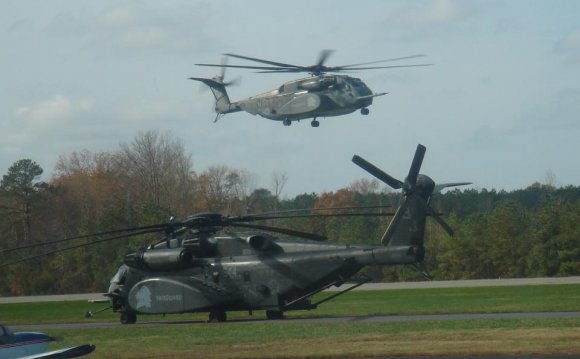 Navy Helicopter landing at