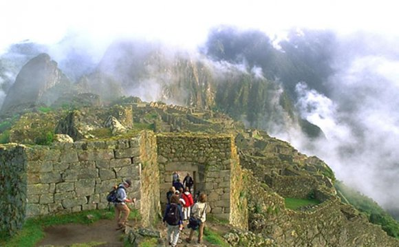 Entering the Machu Picchu