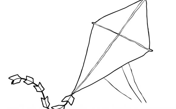 Printable Kite Coloring Pages