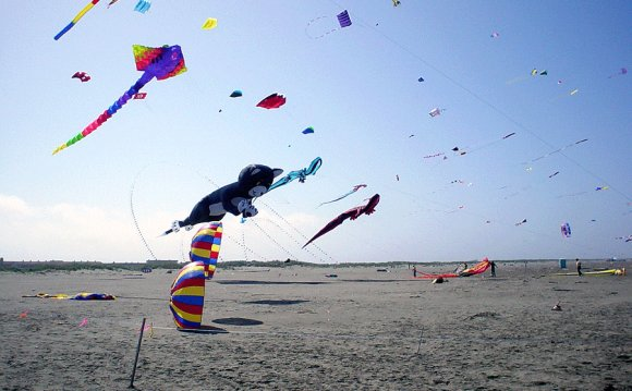Kite festival at Ocean Shores
