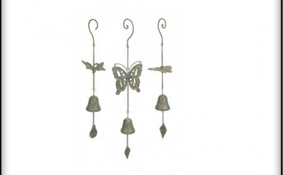Iron butterfly wind chimes