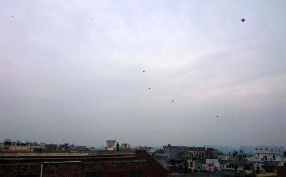 Kites Flying in Sky at