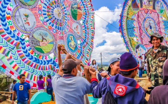 In Guatemala, kites are used