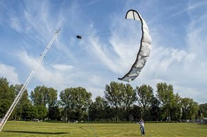 A kite sail for generating electricity