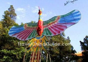 A phoenix-shaped kite