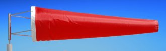 Highest Quality Industrial Windsocks Red 4 FT - 6 FT - 8 FT - 12 FT UVR Flame Retardant Anti Static Chemical Resistant windsock Stainless Steel Eyelets By Adwareflags.com Australia
