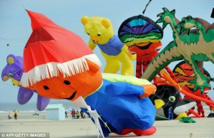 Let's go fly a kite: More than 600,000 people flock to the International Kite Festival in northern France each year