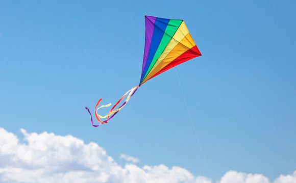 Homemade kites that flying