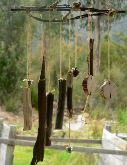 Listen to music a wind chime makes in the spring breeze this season. Photo: Naturallytasmanian.blogspot.com