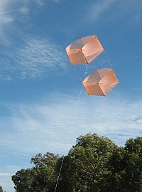 Most box kites are bought, but you can make your own too - like this MBK Dowel Box.