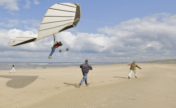 Human Kite flying