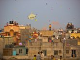 Kite flying in Gujarat