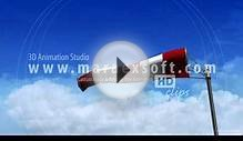 3D Animation - Windsock and Clouds