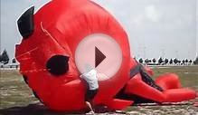 Big Inflatable Red Devil Kite Flying at Malacca Seaside