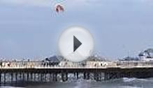 Kitesurfer flies over Brighton Pier
