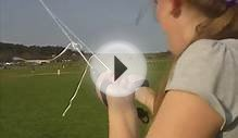 My daughter Chloe learning power kite flying