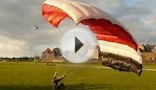 Parachute turned into kite