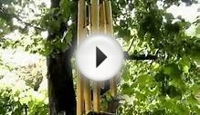 Precision Tuned Six Hollow Metal Rod Feng Shui Wind Chimes