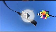 Rainbow Asteroid spikey ball windsock