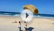 Testing my parafoil kite design on Surfers Paradise.