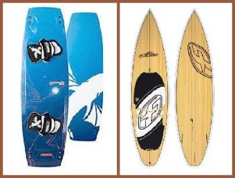 wakeboard style twin tip- surf board style directional