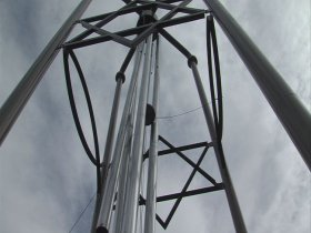 (WTHI Photo) World's Largest Wind Chime in Casey, Illinois.